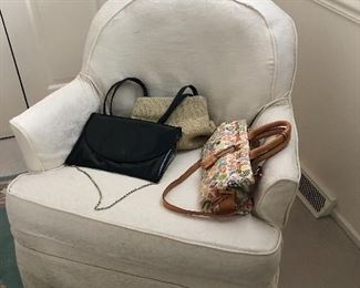 purses and chair