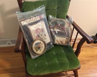 Child's rocker and needle point