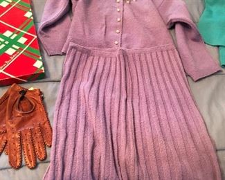 Vintage Kims knit sweater and skirt