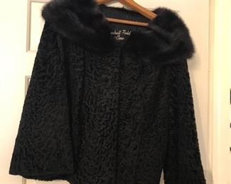 Lambswool with mink collar vintage jacket