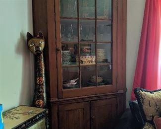 Early Corner Cabinet, circa 1840
