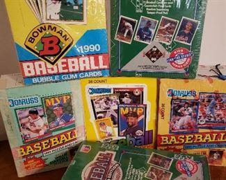 Several sealed Upper Desck, Donruss and Bowman baseball card sets