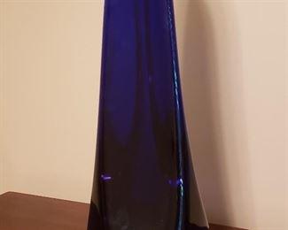 Large cobalt Karg glass sculpture