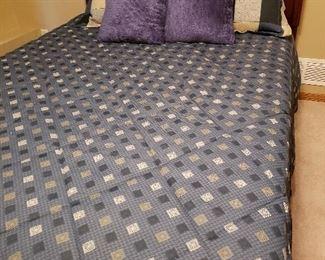 Beautiful antique queen three-piece bedroom set, bed shown