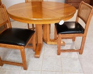 Kitchen/game table, with 4 chairs