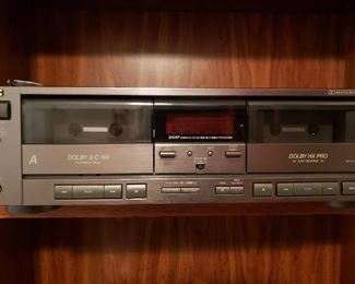 JVC dual cassette player