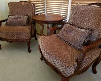 Two traditional side chairs