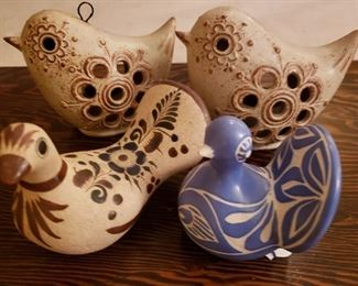 Mexican and Chilian folk pottery