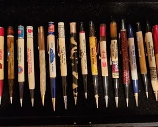 Collection of antique promotional pens