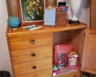 MCM three piece BR set, chest of drawers shown