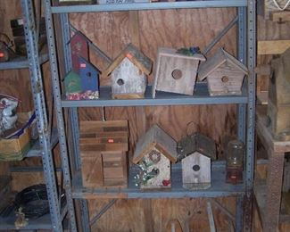 bird houses, etc. made by Mr. Neal
