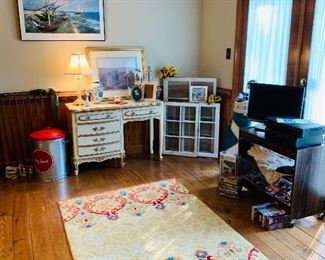 Pottery Barn Rug, French Provincial Desk