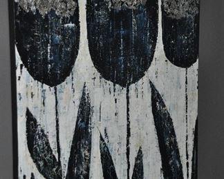 """Large acrylic on canvas """"Black Tulips"""", 40"""" x 50"""""""