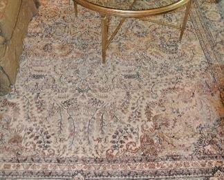 Spectacular hand made 100% silk area rug, 9' x 12'