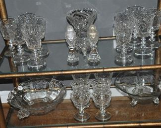Still more beautiful vintage stemware and etched glass bowls!