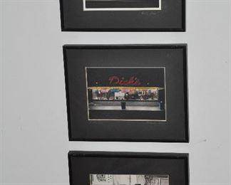 """Great vintage Diner framed art, 10"""" x 8"""""""