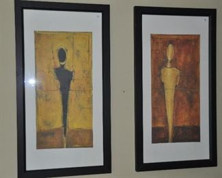 """Large decorative framed prints from Arhaus, 23"""" x 43"""""""