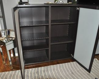 Interior view of the great storage cabinets!