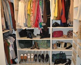Wonderful filled walk in closet!