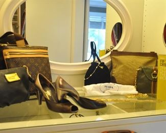 Just a sample of the Woman's Accessories available (purses are Prada-like and Louis Vuitton-Like!)