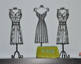 """21"""" wire dress mannequins,"""