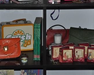 American Girl charm collection, handbags, jewelry, books and Travelambo wallet