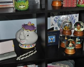 More Disney snow globes and Mrs. Potts teapot