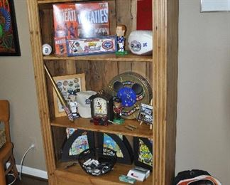 "Knotty Pine 4-shelf, 2-drawer display/book case, 39""w x 72""h x 15""d"