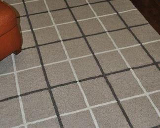 """100% wool taupe, brown and beige area rug 9'9"""" x 6'8"""""""