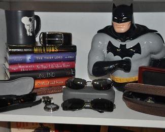 Batman ceramic cookie jar, Revo, Rayban and Maui Jim sunglasses and more