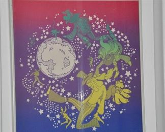 """Peter Max framed poster, 15.5"""" x 22.5"""""""