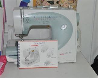 Bernette 80e Sewing Machine by Bernina with case and instruction booklet.