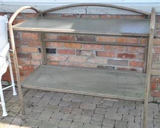 "Wonderful outdoor 2 shelf buffet/display table, 47"" x 23"""