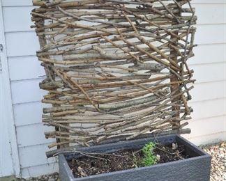 """Very cool outdoor garden art; planter is 39.5"""" x 20"""""""
