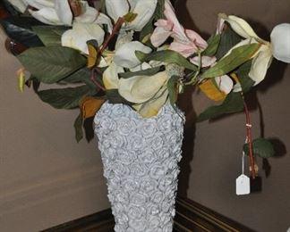 Lovely white ceramic floral vase!