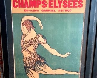 Contemporary reproduction of a vintage ballet poster