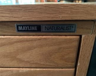 Mayline Naturalist stacking art storage cabinet