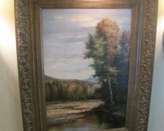 Large Landscape Oil Painting.