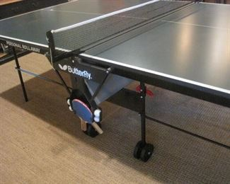 Butterfly Personal Rollaway Ping Pong Table.