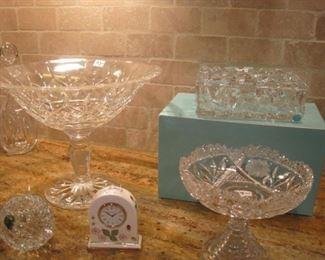 Tiffany & Waterford Crystal.