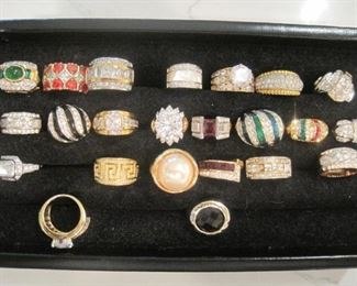 Gold quality costume Jewelry Rings.