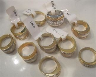 New never worn rings with original price tags.