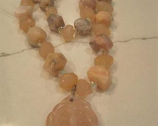 Rose Quartz Necklace.