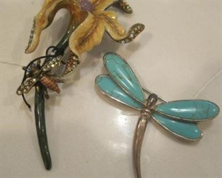 Jay Strongwater and Erwin Pearl Brooches.