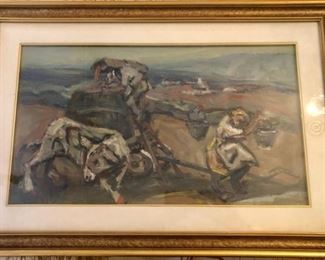 "Muchetti Original Oil ""Working the Fields""  https://ctbids.com/#!/description/share/188235"