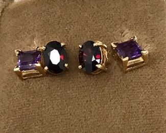 Amethyst and Garnet Earrings https://ctbids.com/#!/description/share/188239