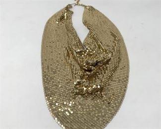 Vintage Gold Mesh Bib Necklace https://ctbids.com/#!/description/share/188249