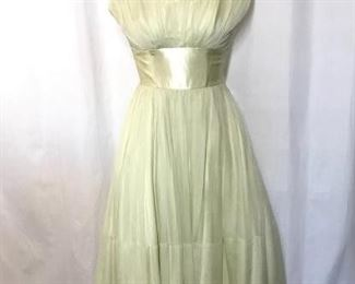 Vintage 50s Chiffon Dress https://ctbids.com/#!/description/share/188257