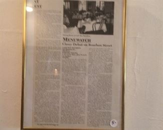 Framed news article