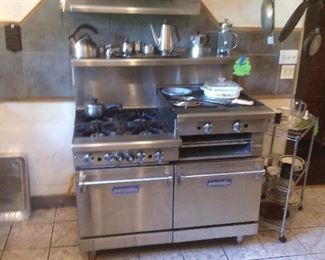 Imperial gas range has 4 burners 2 ovens broiler grill/griddle Stainless steel construction Asking $2750.00  or best offer
